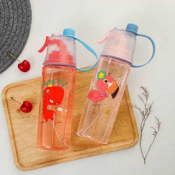 Kids Water bottle with spray toy. Easy to Clean Kids Water Bottle. Easy to carry strap. Leak-Proof Water Bottle. Available In Nairobi Kenya.