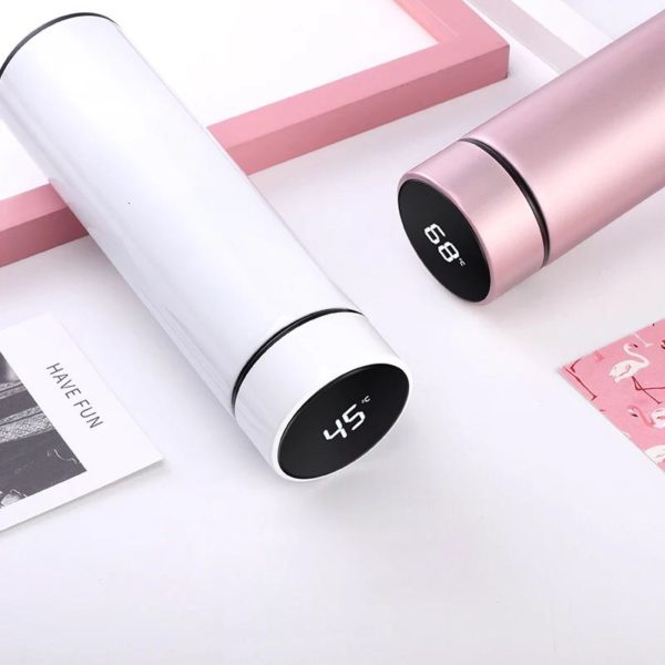 Stainless Steel Vacuum Flask With LCD Touch Screen/Christmas Gift.