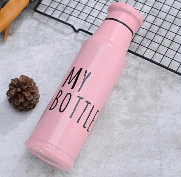 304 Stainless Steel, Double Wall, Vacuum Insulated Leak-proof Reusable Vacuum Bottle Pink Glossy Finish Water Bottle