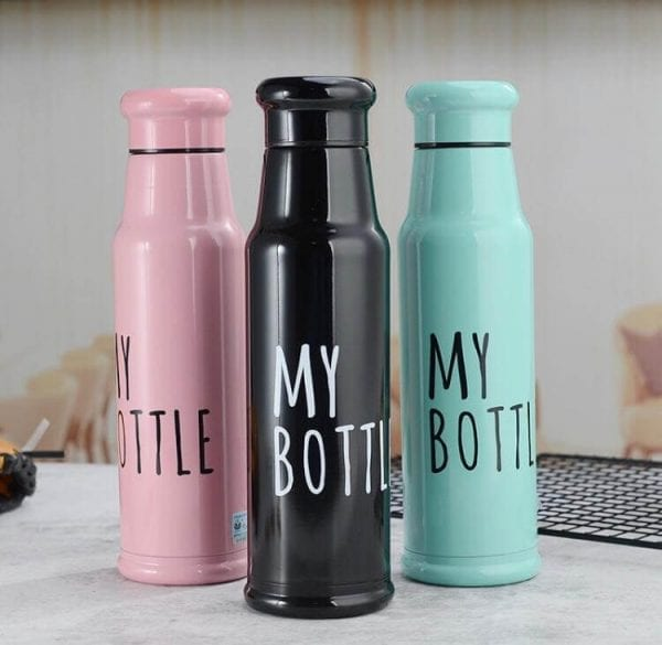 304 Stainless Steel, Double Wall, Vacuum Insulated Leak-proof Reusable Vacuum Pink, Black, Green Glossy Finish Water Bottle